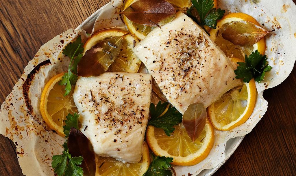 Mahi Mahi En Papillote with lemon and herbs