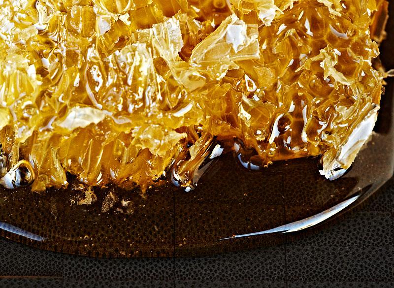 Honeycomb art food photography