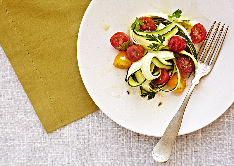 Zucchini Pasta Salad Crystal Cartier Photography