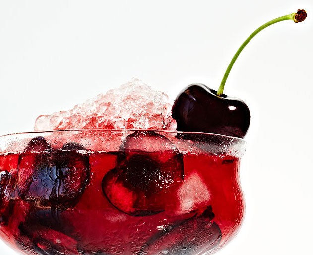 Sweet Cherry Bourbon Smash Cocktail