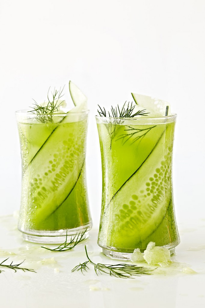 Cucumber Spa Cooler- copyright Crystal Cartier