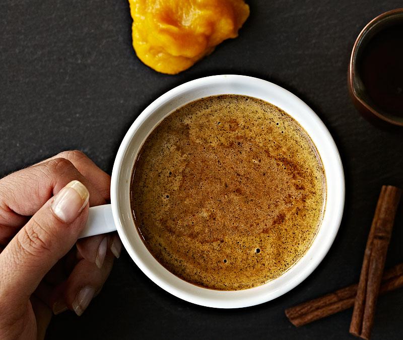 Roasted Pumpkin Latte - copyright Crystal Cartier