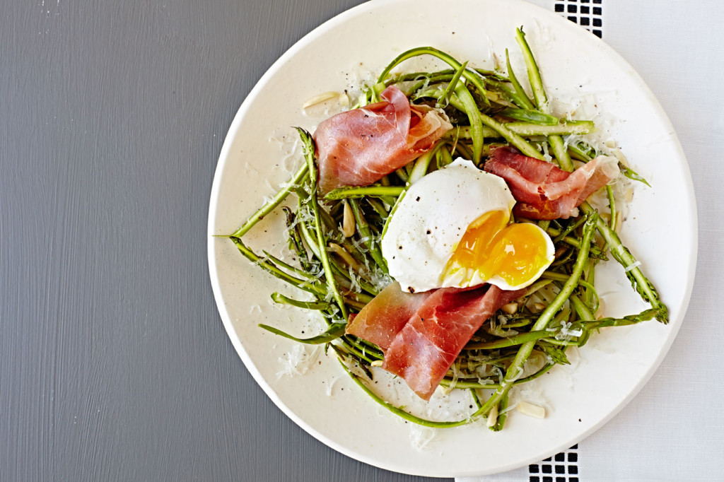 Salad, recipe, asparagus, prosciutto, egg, healthy, food photographer, food photography, crystal cartier