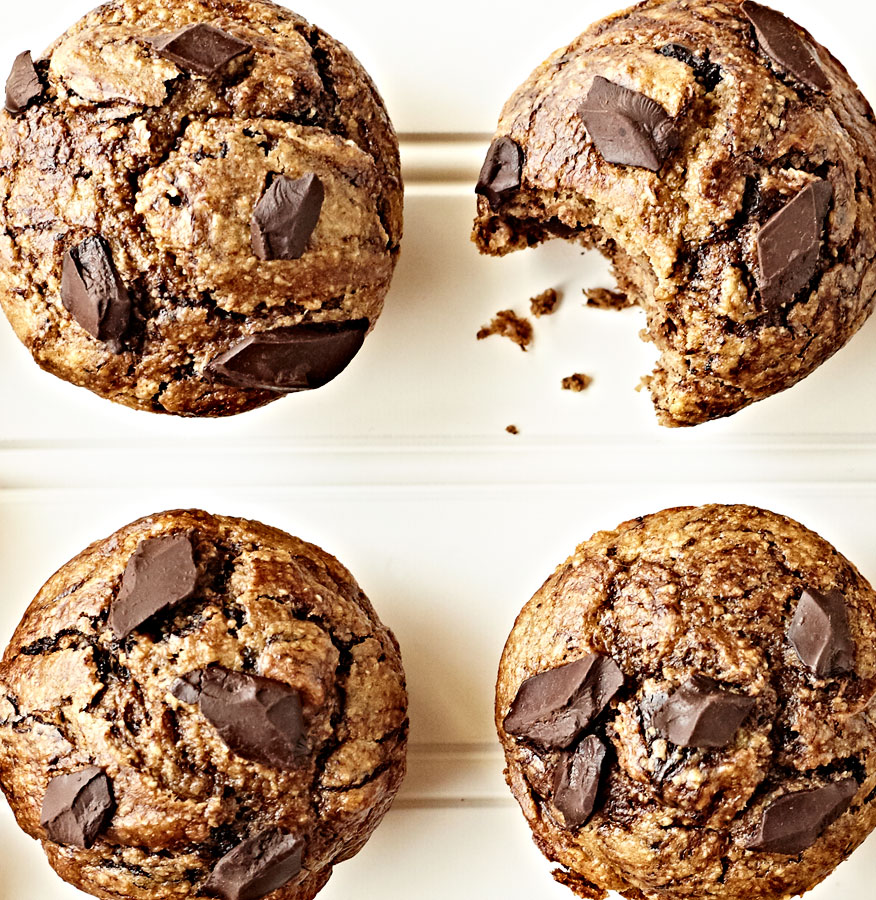 Flourless Almond Butter Chocolate Banana Muffins The Eclectic Kitchen Crystal Cartier