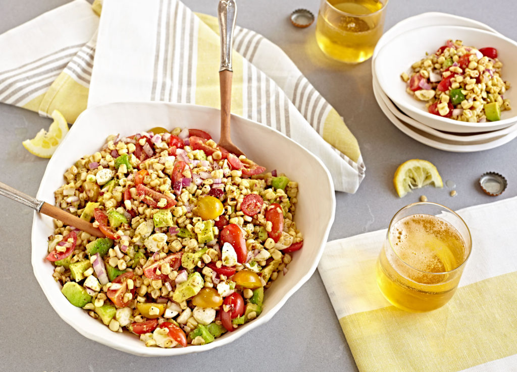 Summer Corn Salad with tomatoes and avocado