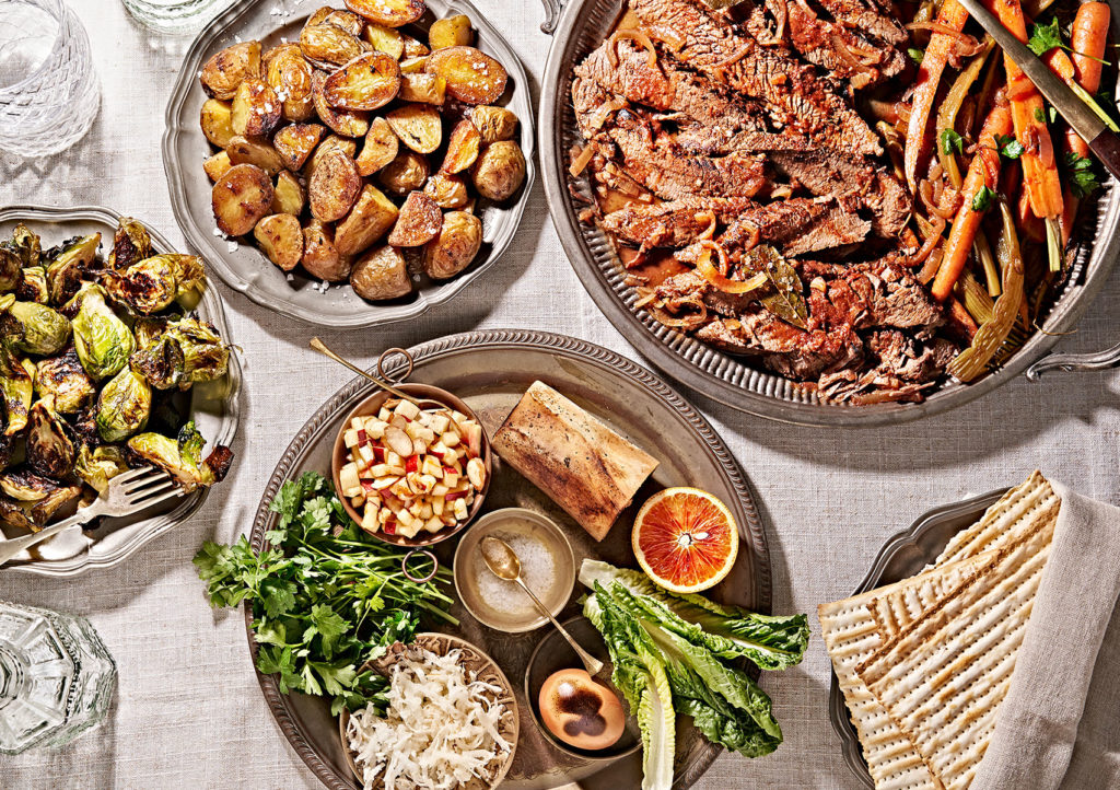 The Perfect Passover Seder Dinner with Crispy Potatoes + Roasted Brussel Sprouts