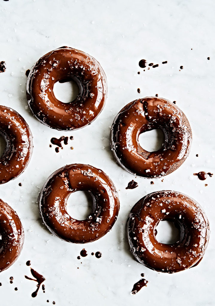 Flourless Baked Double Chocolate Glazed Donuts made with Sweet Potato – (Gluten-Free + Refined Sugar-Free)
