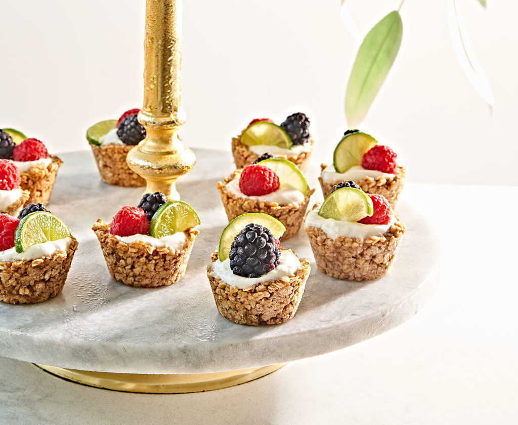 Mini Yogurt Granola Cups with Fresh Berries