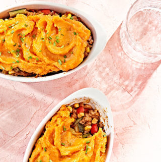 Clean-eating sweet potato shepard's pie.